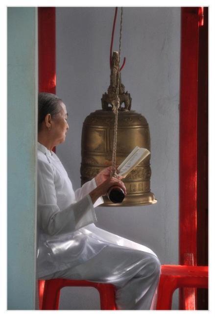 Vietnamese Woman reading